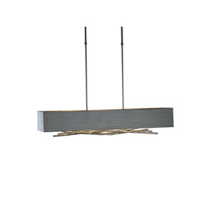 Brindille Burnished Steel 42-Inch Four-Light Pendant with Eclipse Shade