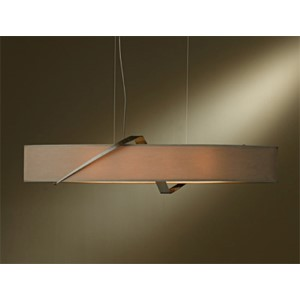 Stream Bronze Four-Light Linear Pendant with Eclipse Shade