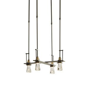 Erlenmeyer Dark Smoke 20.5-Inch Four-Light Chandelier