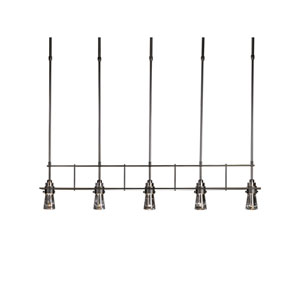 Erlenmeyer Dark Smoke 40-Inch Five-Light Chandelier