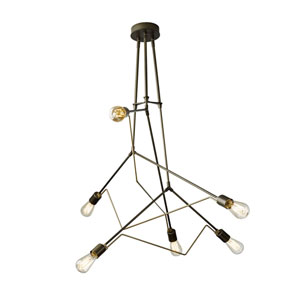 Divergence Dark Smoke Six-Light 55-Inch Pendant