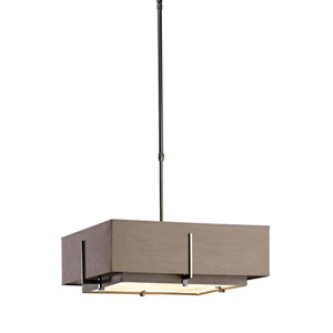 Exos Dark Smoke 20.5-Inch Four-Light Pendant with Eclipse and Eclipse Shade