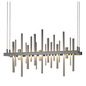 Cityscape Burnished Steel 25.5-Inch LED Pendant