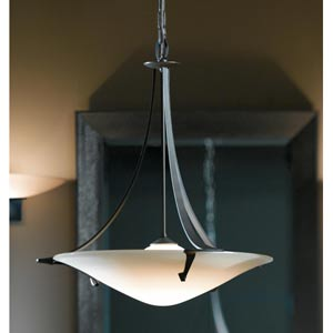 Antasia Burnished Steel One-Light Pendant with Smooth Opal Glass