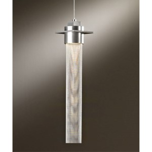 Airis Soft Gold One-Light Medium Mini Pendant with Stainless Steel Mesh Tube
