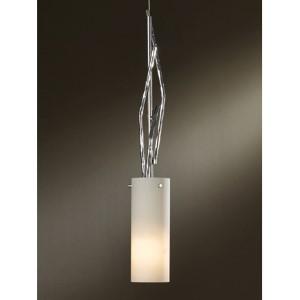 Brindille Vintage Platinum One-Light Mini-Pendant with Pearl Glass