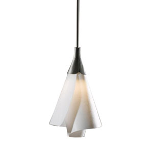 Mobius Dark Smoke 8-Inch One-Light Mini Pendant with Spun Frost Shade