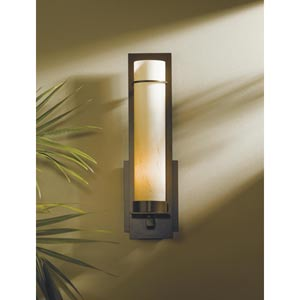 New Town Large Mahogany One-Light Sconce
