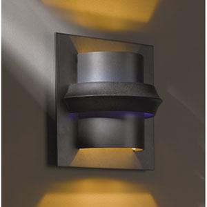 Twilight Dark Smoke One Light Wall Sconce with Blue Glass