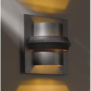 Twilight Dark Smoke One Light Wall Sconce with Amber Glass