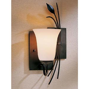 Natural Iron Two Panel Leaf Wall Sconce