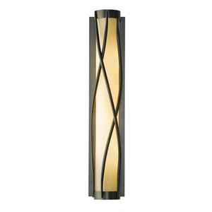 Twine Dark Smoke Four-Light 5-Inch Wall Sconce with Stone Glass