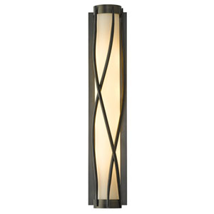 Twine Dark Smoke Four-Light 5-Inch Wall Sconce with Pearl Glass