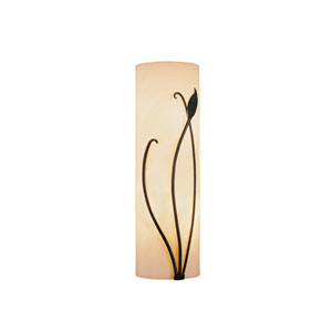 Leaf Natural Iron 5.5-Inch Two-Light Bath Sconce