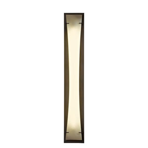 Bento Dark Smoke One-Light 7-Inch Wall Sconce with Spun Frost Shade