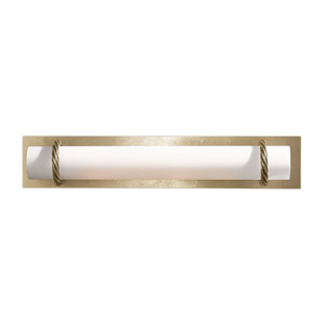 Cavo Soft Gold Four-Light Bath Sconce with Opal Glass