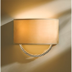 Cavo Vintage Platinum Two-Light Wall Sconce with Doeskin Suede Shade