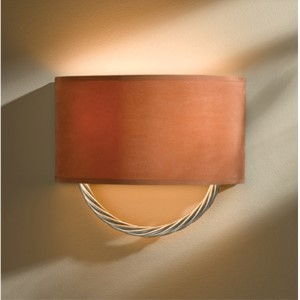 Cavo Vintage Platinum Two-Light Wall Sconce with Terra Suede Shade