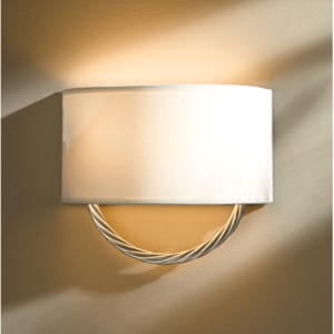 Cavo Vintage Platinum Two-Light Wall Sconce with Natural Anna Shade