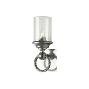 Cavo Vintage Platinum One-Light 5-Inch Wall Sconce with Clear Glass