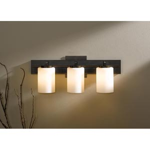 Ondrian Bronze Three-Light Bath Light