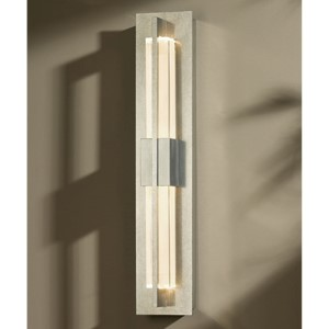 Double Axis Vintage Platinum LED Small Wall Sconce with Clear Glass
