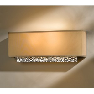 Oceanus Vintage Platinum Two-Light Wall Sconce with Doeskin Suede Shade