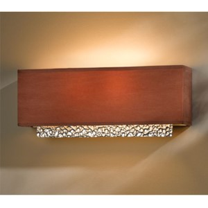 Oceanus Vintage Platinum Two-Light Wall Sconce with Terra Suede Shade
