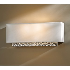 Oceanus Vintage Platinum Two-Light Wall Sconce with Natural Anna Shade