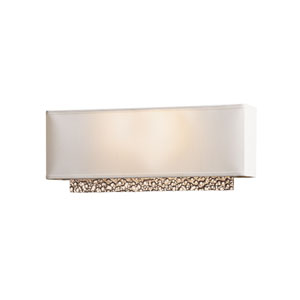 Oceanus Soft Gold Two-Light Sconce with Natural Anna Shade