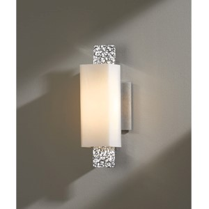 Oceanus Vintage Platinum One-Light 4.Wall Sconce with Pearl Glass
