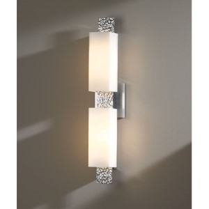 Oceanus Vintage Platinum Two-Light Wall Sconce with Opal Glass