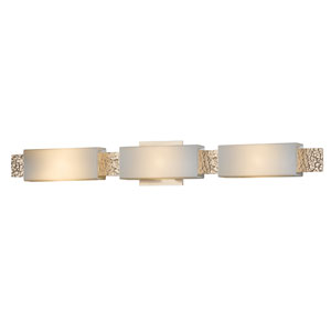 Oceanus Soft Gold Three-Light Bath Sconce with Pearl Glass
