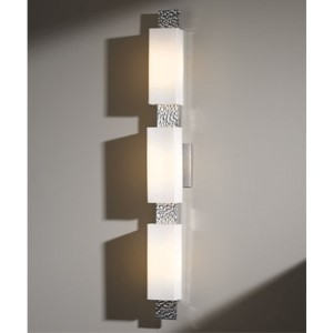 Oceanus Vintage Platinum Three-Light Wall Sconce with Opal Glass