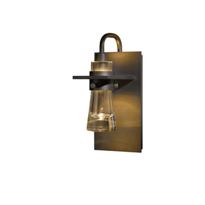 Erlenmeyer Dark Smoke 4.5-Inch One-Light Bath Sconce with Top Support
