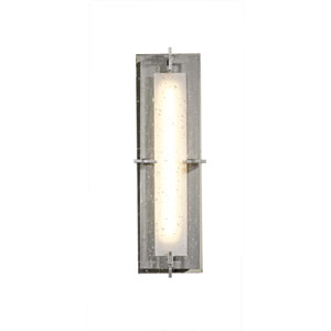 Ethos Vintage Platinum 18.5-Inch LED Bath Sconce with Seeded Clear Glass