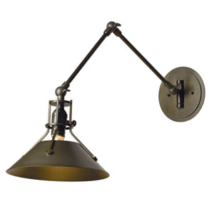 Henry Bronze 9-Inch One-Light Swing Arm Sconce