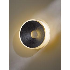 Oculus Dark Smoke One Light Wall Sconce with Opal Glass