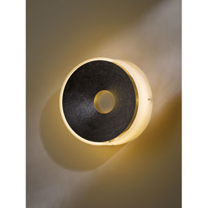 Oculus Dark Smoke One Light Wall Sconce with Pearl Glass