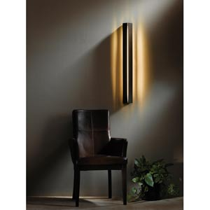 Gallery Dark Smoke Fluorescent One-Light Sconce with Decaf Alabaster Acrylic