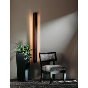 Gallery Dark Smoke Fluorescent One-Light Sconce with Mica Acrylic