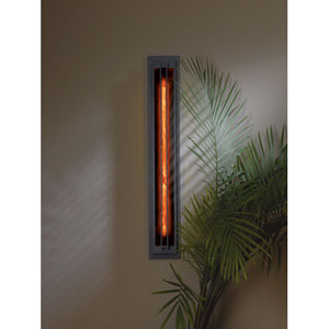 Ono Burnished Steel One Light Fluorescent Wall Sconce with Mica Acrylic Glass