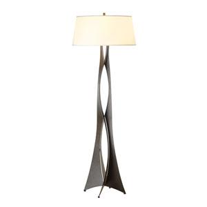 Moreau Dark Smoke 22-Inch One-Light Floor Lamp with Natural Anna Shade