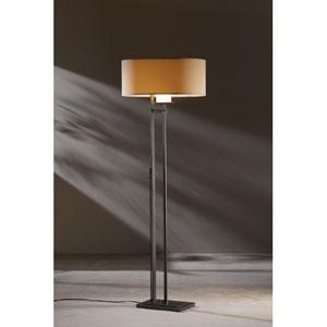 Rook Dark Smoke One Light Floor Lamp with Doeskin Micro-Suede Shade