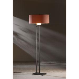 Rook Dark Smoke One Light Floor Lamp with Terra Micro-Suede Shade