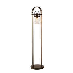Erlenmeyer Dark Smoke One-Light 11-Inch Floor Lamp with Clear Glass