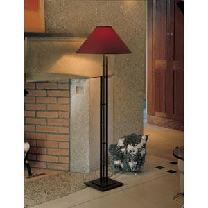 Metra Mahogany One Light Floor Lamp with Terra Micro-Suede Shade