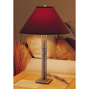 Metra Natural Iron One Light Table Lamp with Terra Micro-Suede Shade
