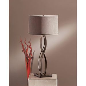 Almost Infinity Dark Smoke One Light Table Lamp with Eclipse Micro-Suede Shade