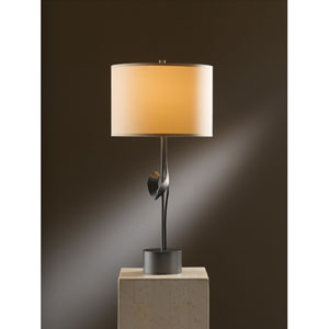 Gallery Dark Smoke 24.3-Inch One Light Table Lamp with Doeskin Micro-Suede Shade
